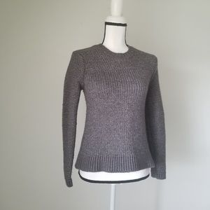 J. Crew Grey knit Crew Sweater Size S